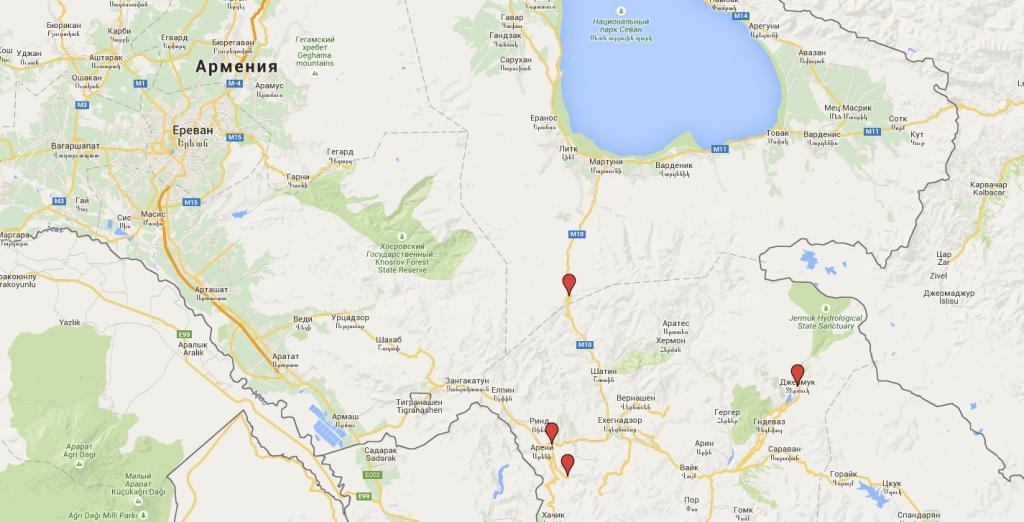 Армения-Грузия - наш маршрут 2015
