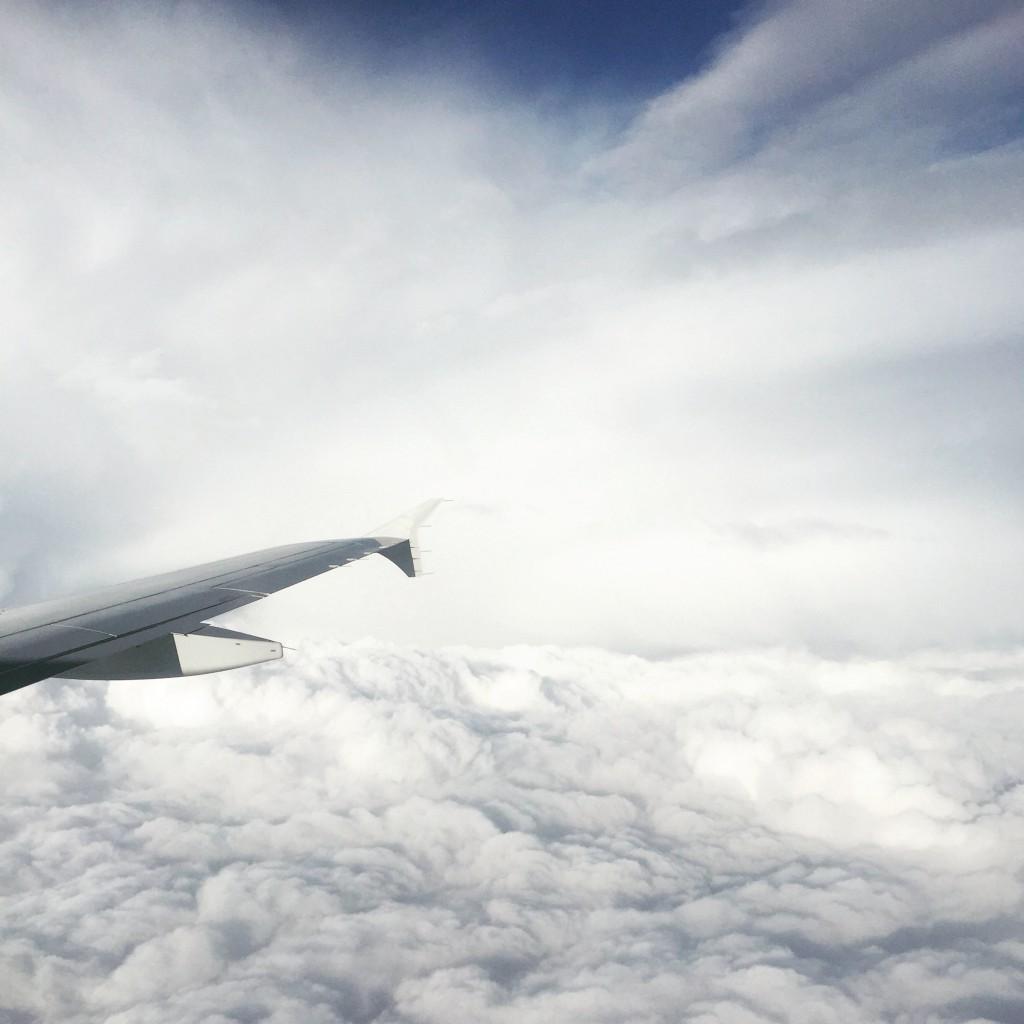 Вид из самолёта Армения